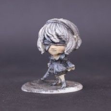 Picture of print of YorHa No 2 Type B Chibi figurine