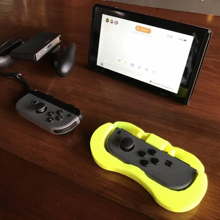 3D Printable Nintendo Switch Joycon 2 players grip by Jose