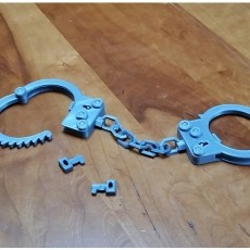 Handcuffs Complete Single Bed Print