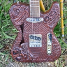 The Tikicaster: 3d printed semi-acoustic electric guitar