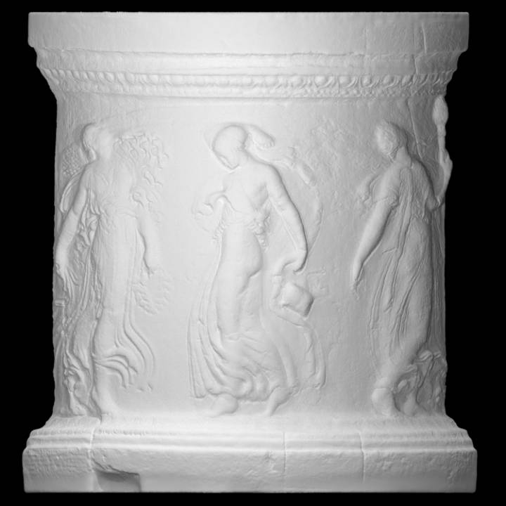 Fragmentary base depicting Maenads