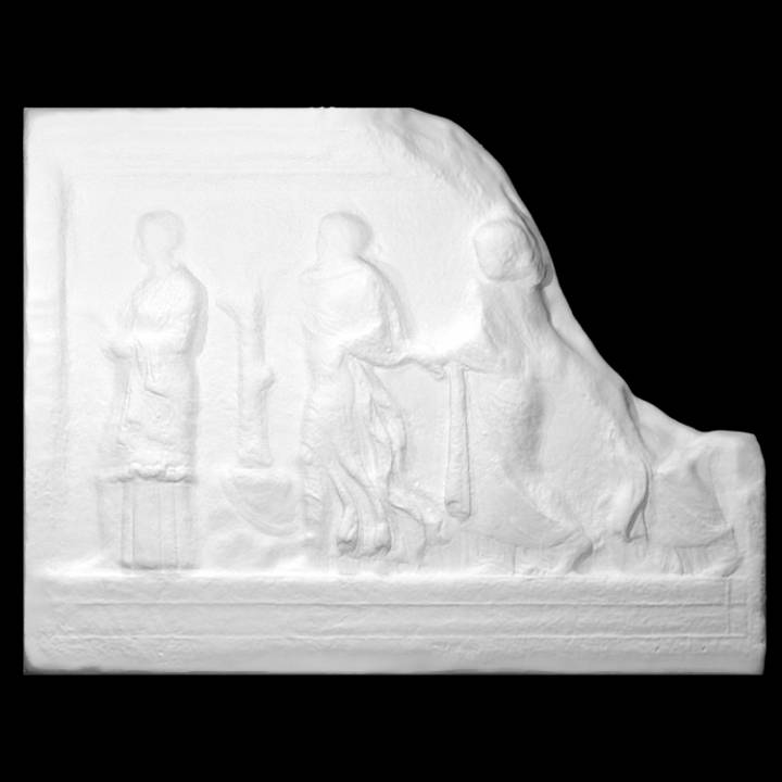 Funerary altar with Muses and Aglaurids