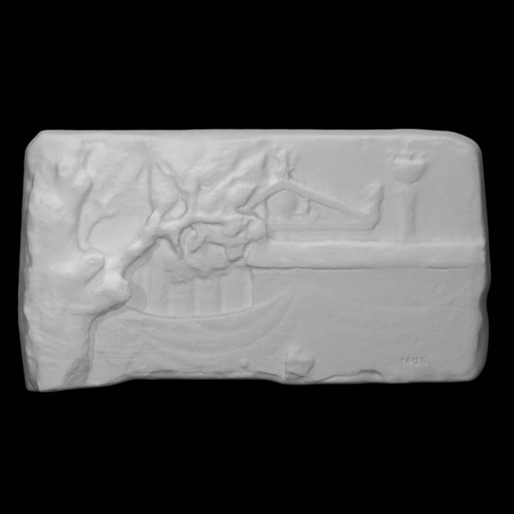 Relief representing a sacred landscape