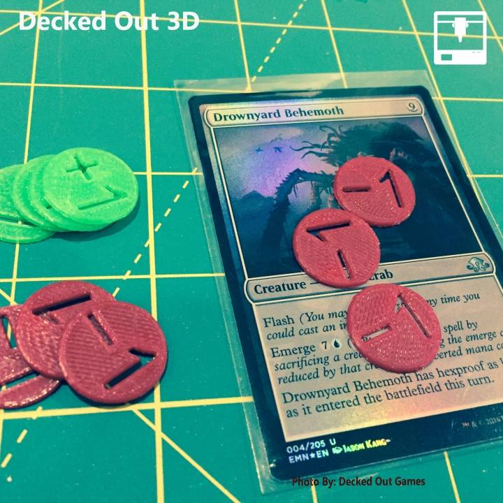 graphic relating to Magic the Gathering Printable named 3D Printable MTG Magic The Collecting Lifetime Tokens / Counters