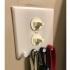 Double switchplate w/4 rounded key hooks image
