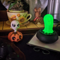 Picture of print of Motorized Halloween Ghost Nightlight