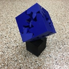 Large Geared Cube, Motorized Edition