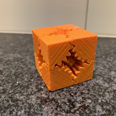Picture of print of Large Geared Cube, Motorized Edition