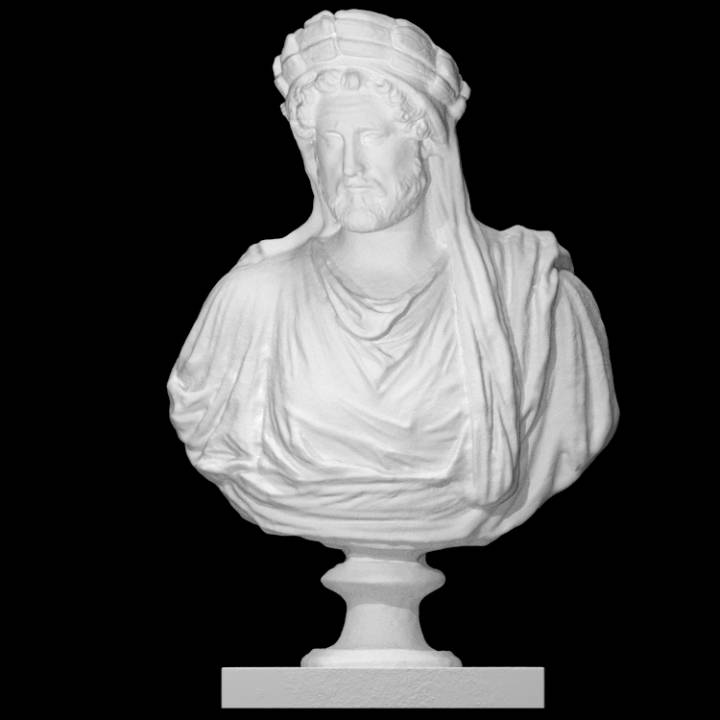 Bust of Antoninus Pius portrayed as an Arval Brother