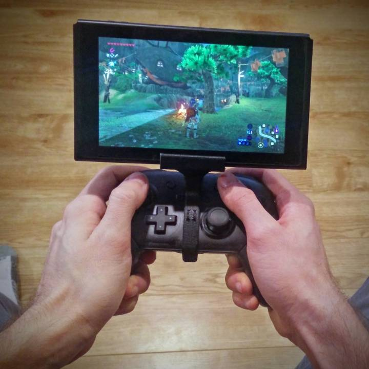 3D Printable Switch Pro Controller Clip by Jo