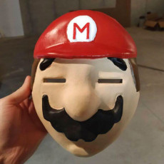 Picture of print of Happy Mask Mario