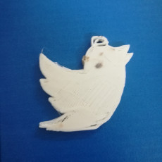 Picture of print of Twitter Keychain