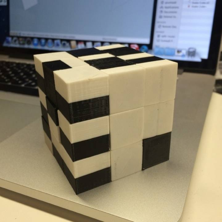Snake Cube Puzzle, Printed Fully Assembled and Ready to Solve