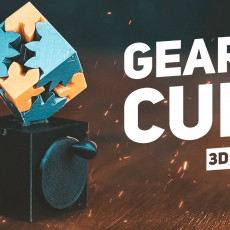 Picture of print of Geared Cube, Hand Crank Edition