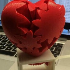 Picture of print of Geared Heart, Hand Crank Edition