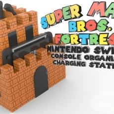 Super Mario Bros. Fortress Console Organizer & Charging Station - Nintendo Switch