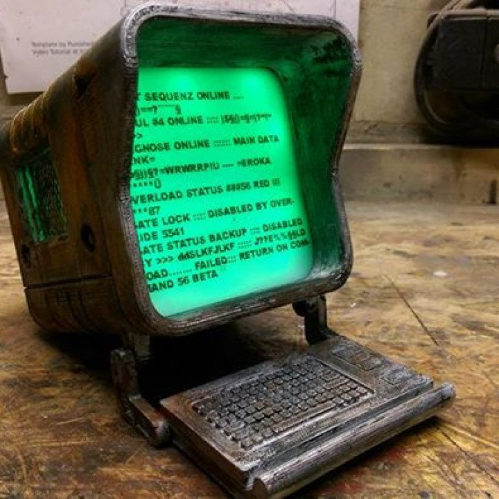 Picture of print of Fallout 4 - Wall Mounted Terminal Replica This print has been uploaded by Tie Kai