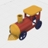 Balloon Powered Single Cylinder Air Engine Toy Train image
