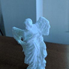 Picture of print of Angel with skull and snake