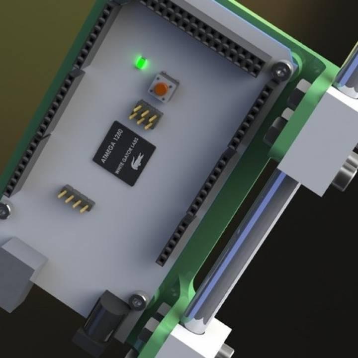 D printable arduino mega m or bar mount by mark fuller