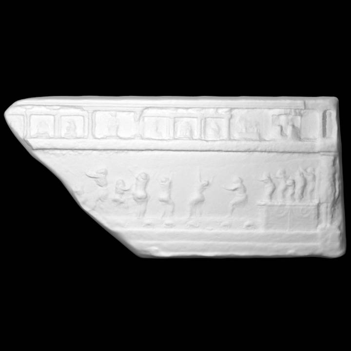 Fragment of relief with Isiac scene