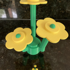 Picture of print of Lifesize Lego Flowers