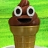 Ice cream Emoji or Poop on a Cone image