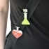 Love chemistry brooch/pin image