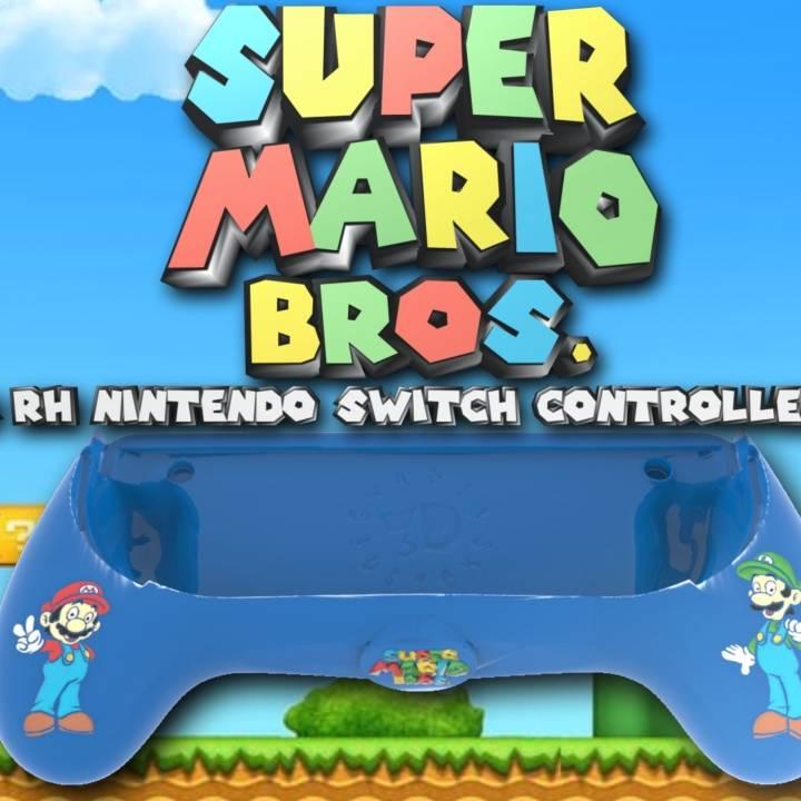 3d Printable Ergonomic Super Mario Bros Joy Con Assist Grip Controller Nintendo Switch By