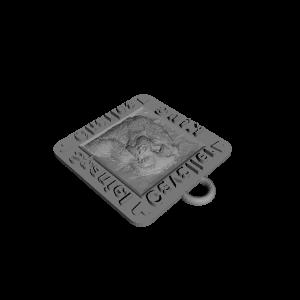 3D Printable Porte-clé Cavalier King Charles Spaniel by