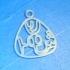 Personalised Triangular Pendant with World Fonts image