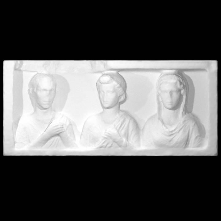 Funerary relief with Dextrarum Iunctio