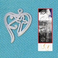 Personalised Christian Heart Earring