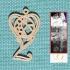 Personalised Voronoi Heart Earring image