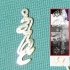 Personalised Informal Roman Font Earring image