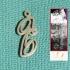 Personalised Lucida Calligraphy Font Earring image