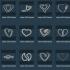 Personalised Eastern Zodiac Dog Heart Earring image