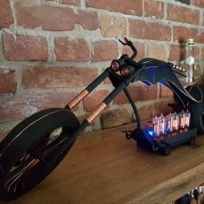 Motorcycle Chopper Nixie clock