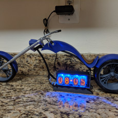 Picture of print of Motorcycle Chopper Nixie clock