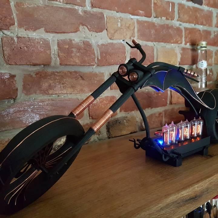 3D Printable Motorcycle Chopper Nixie clock by Dario Klepic