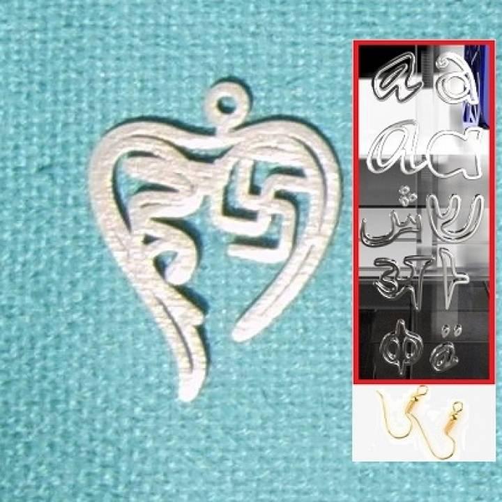 Personalised Diwali Hindi Heart Earring