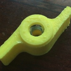 Snowblower Adjustment Knob with Metal Nut Inserted During Print