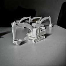 Easy to print Generic Excavator (esc: 1:100)