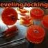 Bed leveling locking nuts image