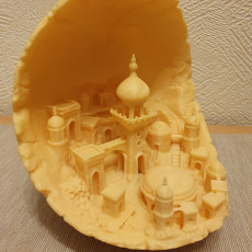 Picture of print of Moon city