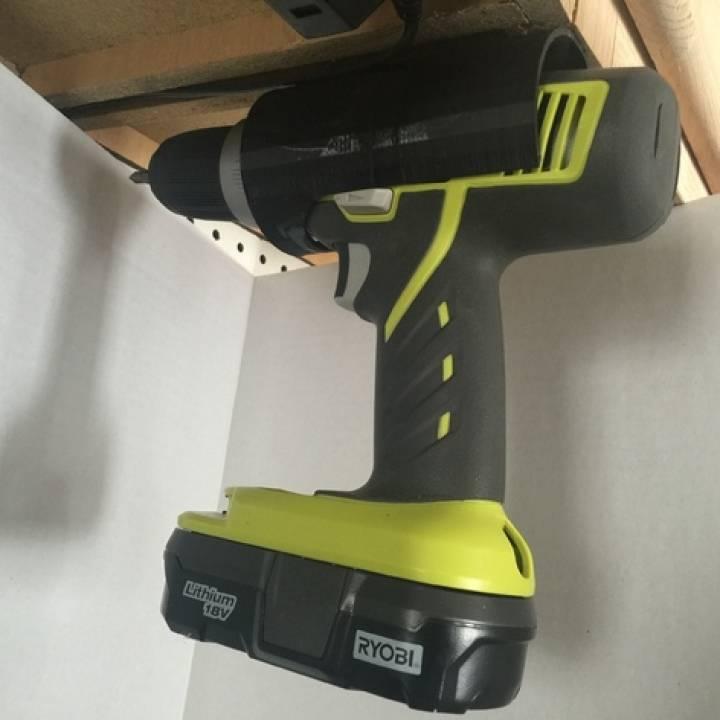 3D Printable Ryobi Cordless Drill Holder By Chuck Hellebuyck