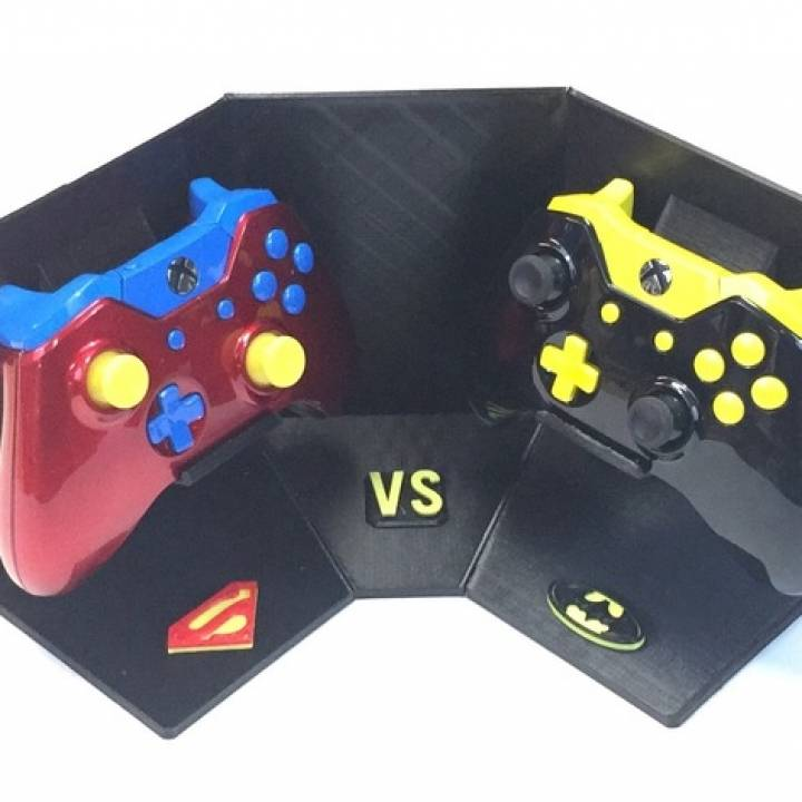 Modern Exhibition Stand Xbox One : D printable batman vs superman xbox one display stand by