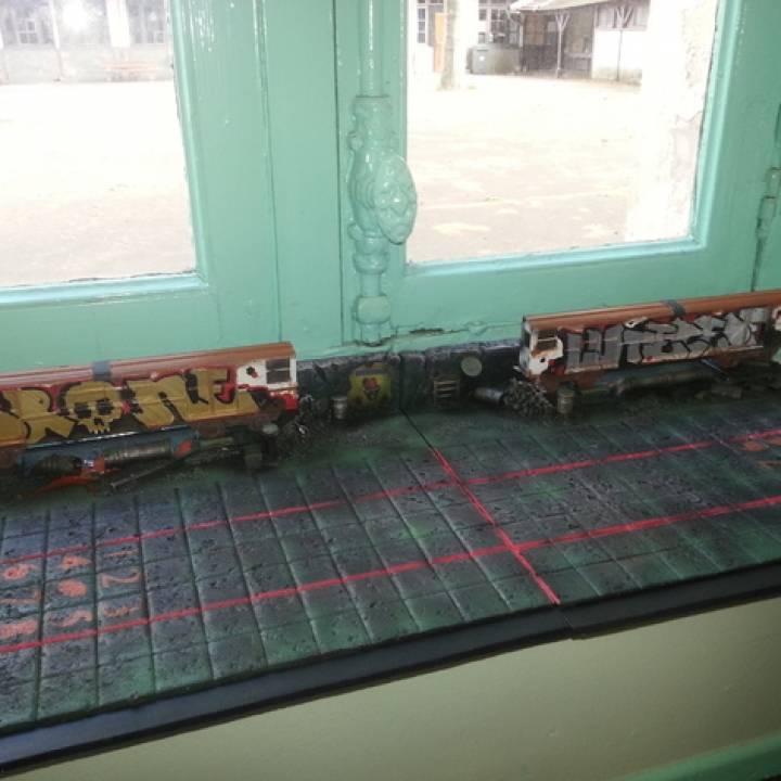 """Train """"Street Art""""."""
