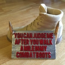 Walk a Mile in my Combat Boots