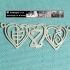 Personalised Harrington Font Heart Necklace image